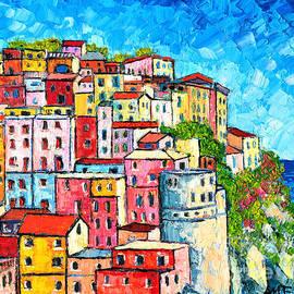 Ana Maria Edulescu - Cinque Terre Italy Manarola Colorful Houses