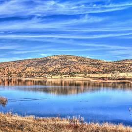 Cirrus Skies at the Lake by Aaron Burrows
