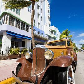 Classic car Miami Art Deco District by Mr Bennett Kent