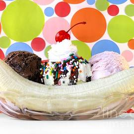 Classic Soda Shoppe Banana Split by Chrystyne Novack