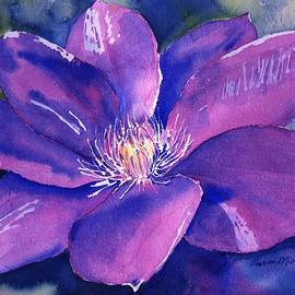 Clematis Gipsy Queen in Bloom by Sharon Mick