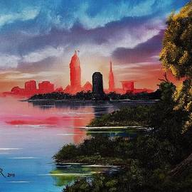 Cleveland Farewell Sunset by Alfred Stringer