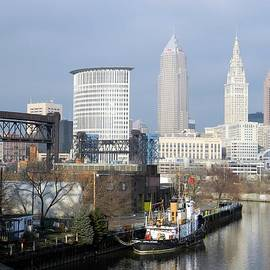 Cleveland Ohio River View by Nancy Spirakus