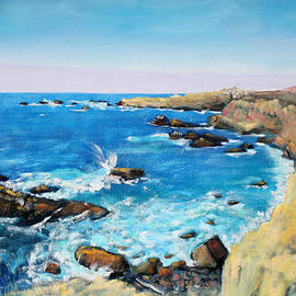 Cliffs at Gerstle Cove California by Asha Carolyn Young