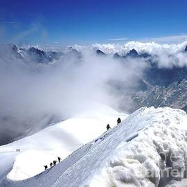 Climbing To The Aiguille Du Midi by Cristina Stefan