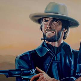 Clint Eastwood Painting by Paul Meijering