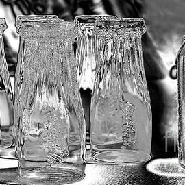 Coca-Cola Glasses and Can - Liquid Chrome by Kaye Menner