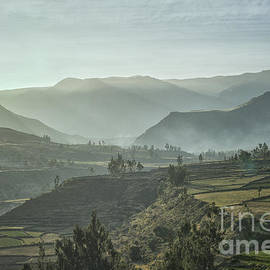 Colca Canyon in the fog by Patricia Hofmeester