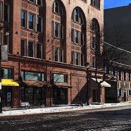 David Blank - Cold Clear Morning on Old World 3rd Street in Milwaukee Wisconsin
