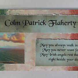 Colm Irish Name Plate by Anita Burgermeister