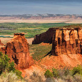 Colorado National Monument Canyon Panorama by Christopher Arndt