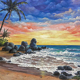 Colorful Maui Sunset by Darice Machel McGuire