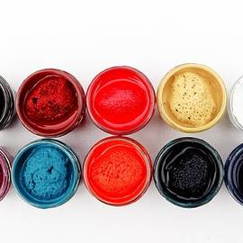 Colorful paint pots