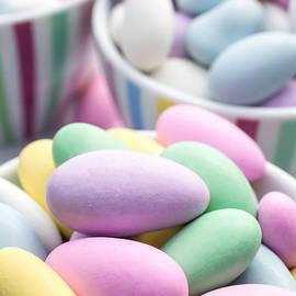 Colorful pastel jordan almond candy