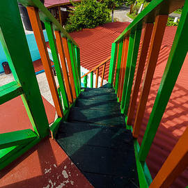 Jess Kraft - Colorful Red and Green Staircase