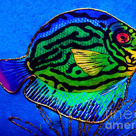 Colorfull Fish - Watercolor Painting by Merton Allen