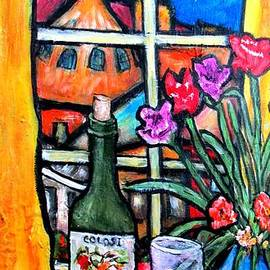 Chaline Ouellet - Colosi wine with flowers