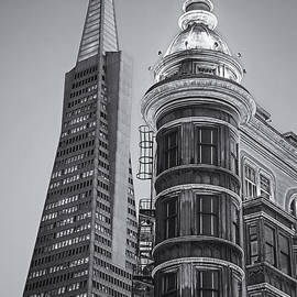 Jerry Fornarotto - Columbus and Transamerica Towers bw