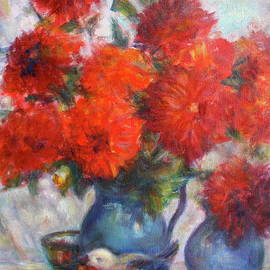 Complementary - Original Impressionist Painting - Still-life - Vibrant - Contemporary by Quin Sweetman