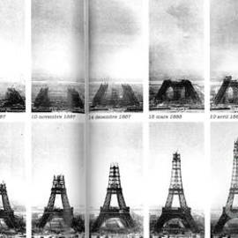 Construction Progress of the Eiffel Tower 1887-1889 by Deb Schense