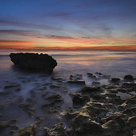 Coral Cove Beach at Dawn by Debra and Dave Vanderlaan