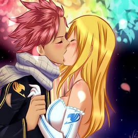 Couple Natsu and Lucy by Nicole La Placa