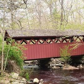 Marjorie Tietjen - Covered Bridge In Spring