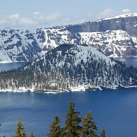 Debra Thompson - Crater Lake With Snow