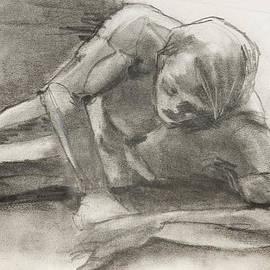 Creation Of Adam Sketch by Jani Freimann