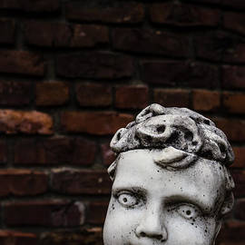 Edward Fielding - Creepy Marble Boy Garden Statue