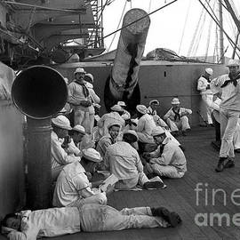Crewmen of U. S. Battleship Texas pose for photo Havana harbor Cuba  1898 by California Views Archives Mr Pat Hathaway Archives