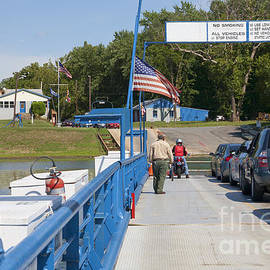 Crossing The Potomac On White's Ferry From Virginia To Maryland by William Kuta