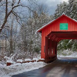 Jeff Folger - Crossing through the upper Cox Brook covered bridge