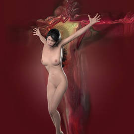 Quim Abella - Crucified Woman in Red
