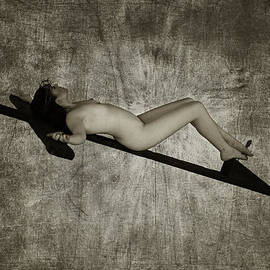 Ramon Martinez - Crucified woman in sepia