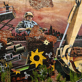 Crumbling Mural by Charles A LaMatto