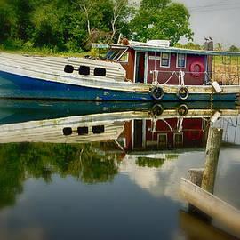 Bayou Boat on the Bayou Villere LA DSC05469 by Greg Kluempers