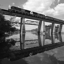 Joseph C Hinson Photography - CSX Coal train BW