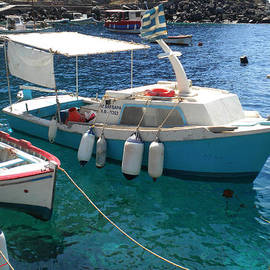 Colette V Hera  Guggenheim  - Cute Little Santorini Fish Boats