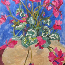 Cyclamen in Blue by Esther Newman-Cohen