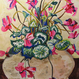 Esther Newman-Cohen - Cyclamen in Yellow