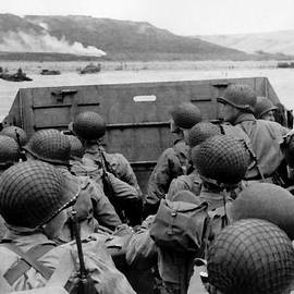 D-day Soldiers In A Higgins Boat  by War Is Hell Store