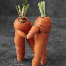 Alex Khomoutov - Dance With Me - Funny Art - Comic Dancing Carrot Couple - Good Luck in Love Energy Print