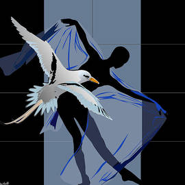 Dancing with bird by Roby Marelly