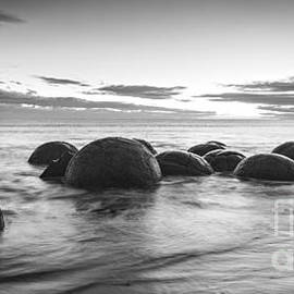 Dawn at Moeraki Boulders by Colin and Linda McKie