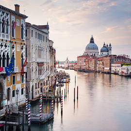 Dawn over the Grand Canal Venice by Justin Foulkes
