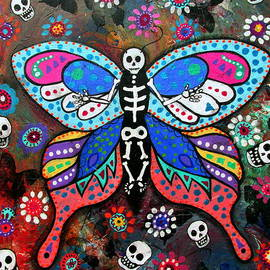 Pristine Cartera Turkus - Day Of The Dead Skellyfly Iii