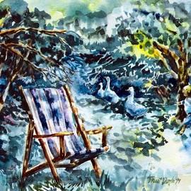 Deckchair in a Summer Garden  by Trudi Doyle