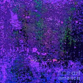Deep Purple Passions Abstract by Saundra Myles