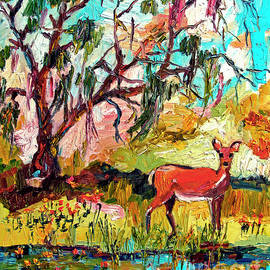 Ginette Callaway - Deer by the Lake